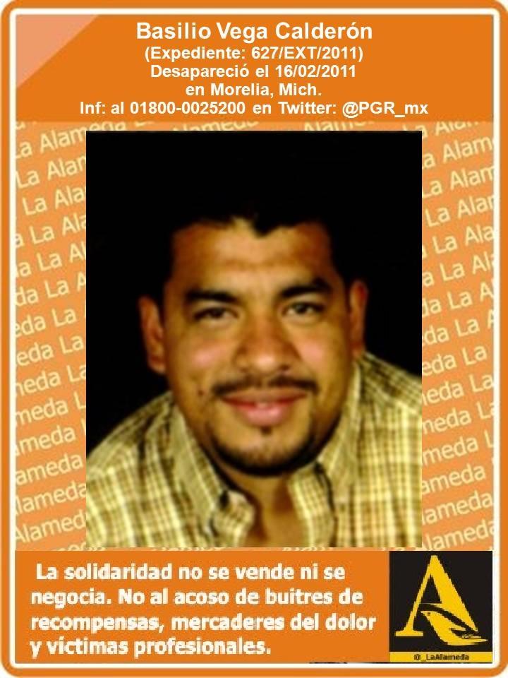 #TeBuscamos Basilio Vega Calderón, 16/2/11 #Morelia #Michoacán #911 https://t.co/kvTxpqkZD4