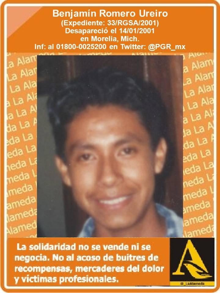 #TeBuscamos Benjamín Romero Ureiro, 14/1/01 #Morelia #Michoacán #911 https://t.co/JWNXVY5HIY