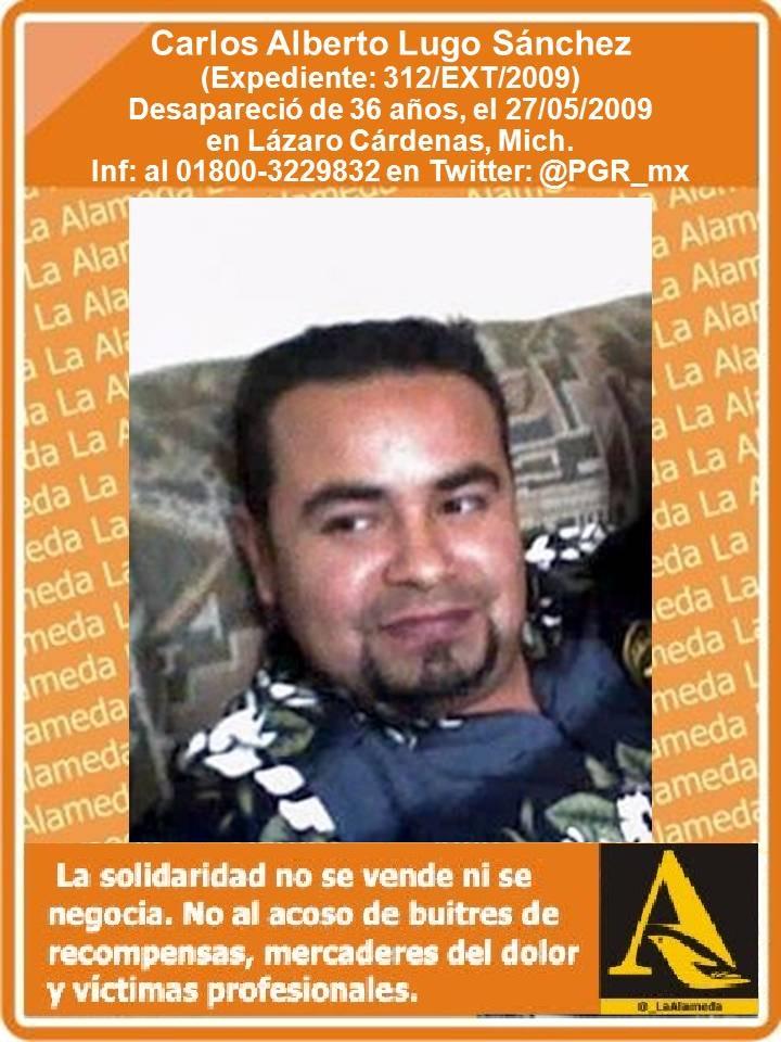 #TeBuscamos Carlos Alberto Lugo Sánchez, 36 años, 27/5/09 #LázaroCárdenas #Morelia #911 https://t.co/h8NSY2YjgN