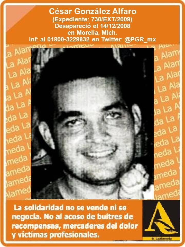 #TeBuscamos César Gonzalez Alfaro, 14/12/08 #Morelia #Michoacán #911 https://t.co/kl71la5Svi