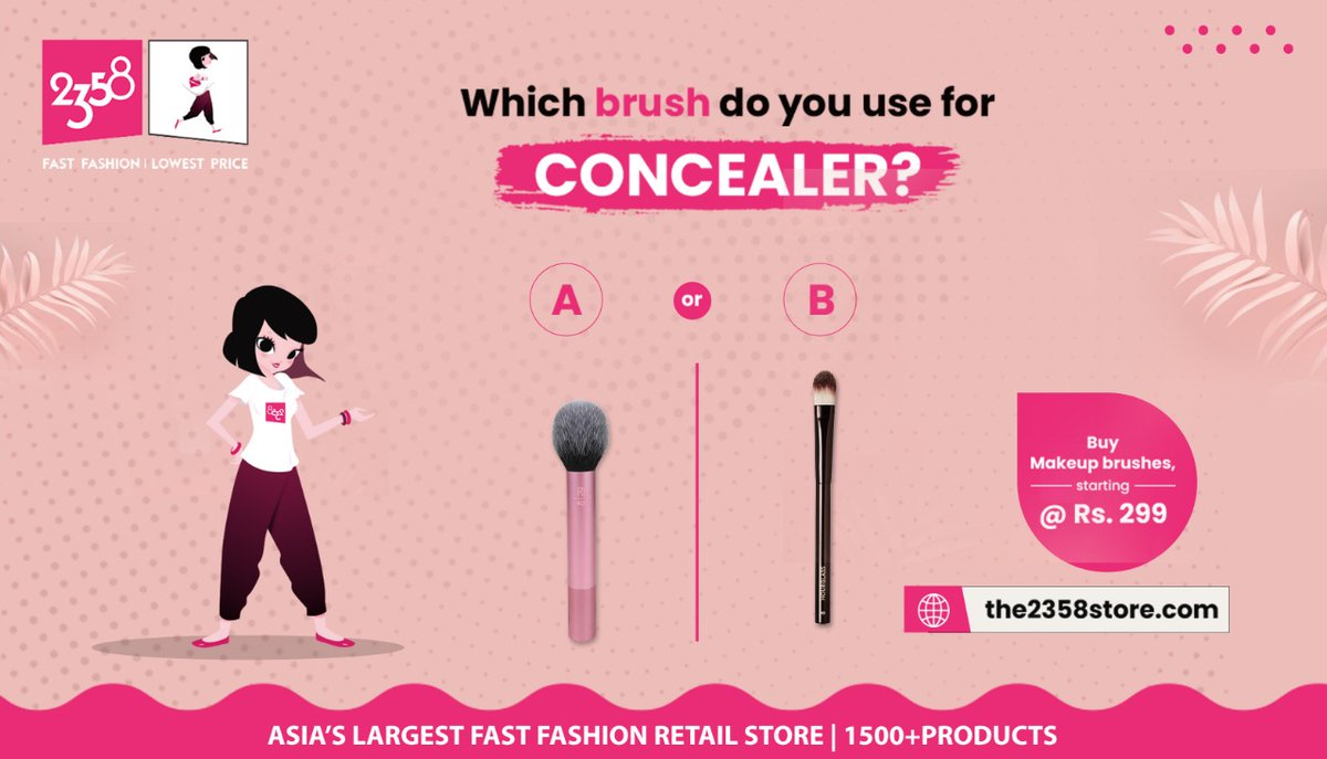 Even out your makeup regime from https://t.co/T1m5Xc4dKh  to suit your everyday fashion needs.    Comment your answers in the section below.  #2358store #2358Products #2358India #2358Life #onlinestore #fibi #Korea #fastfashion #accessories #streetstyle #NowOnline #KeepShopping https://t.co/EwS5W2GOsl