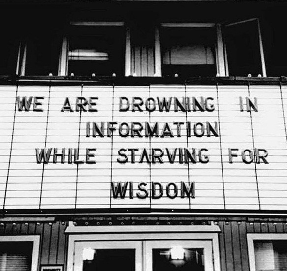 we are drowning in information while starving for wisdom!!! #carbonfootprint https://t.co/htHAR8jhrH