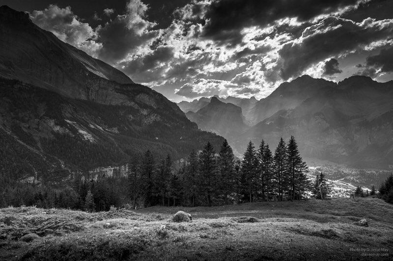 Sunbeam slivers  https://t.co/LEQOVBMPZj #Worldscapes #blackandwhitephotography #Switzerland #artgallery #nature https://t.co/rPaD0wnzub