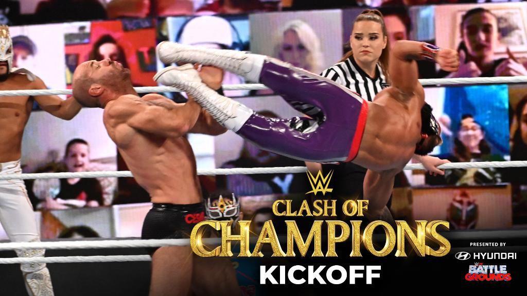 #LuchaHouseParty brought the fight, but it was #AndStill for #SmackDown Tag Team Champions @ShinsukeN & @WWECesaro at #WWEClash. ➡️ https://t.co/CPEiir9BCo https://t.co/BLRW1CUnYB