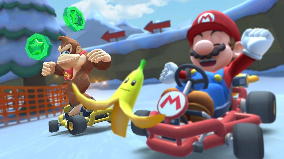 test ツイッターメディア - ボーナスメダルを集めて、アイテムをゲット!  今ツアーのボーナスメダルは「バナナを当てる」事で入手できるぞ!  今回は、1ヒットで4枚ゲット可能! 狭い道でのジャンボバナナなど、一気に大量獲得も夢じゃない…かも?  #マリオカートツアー https://t.co/m0Txrml7eu