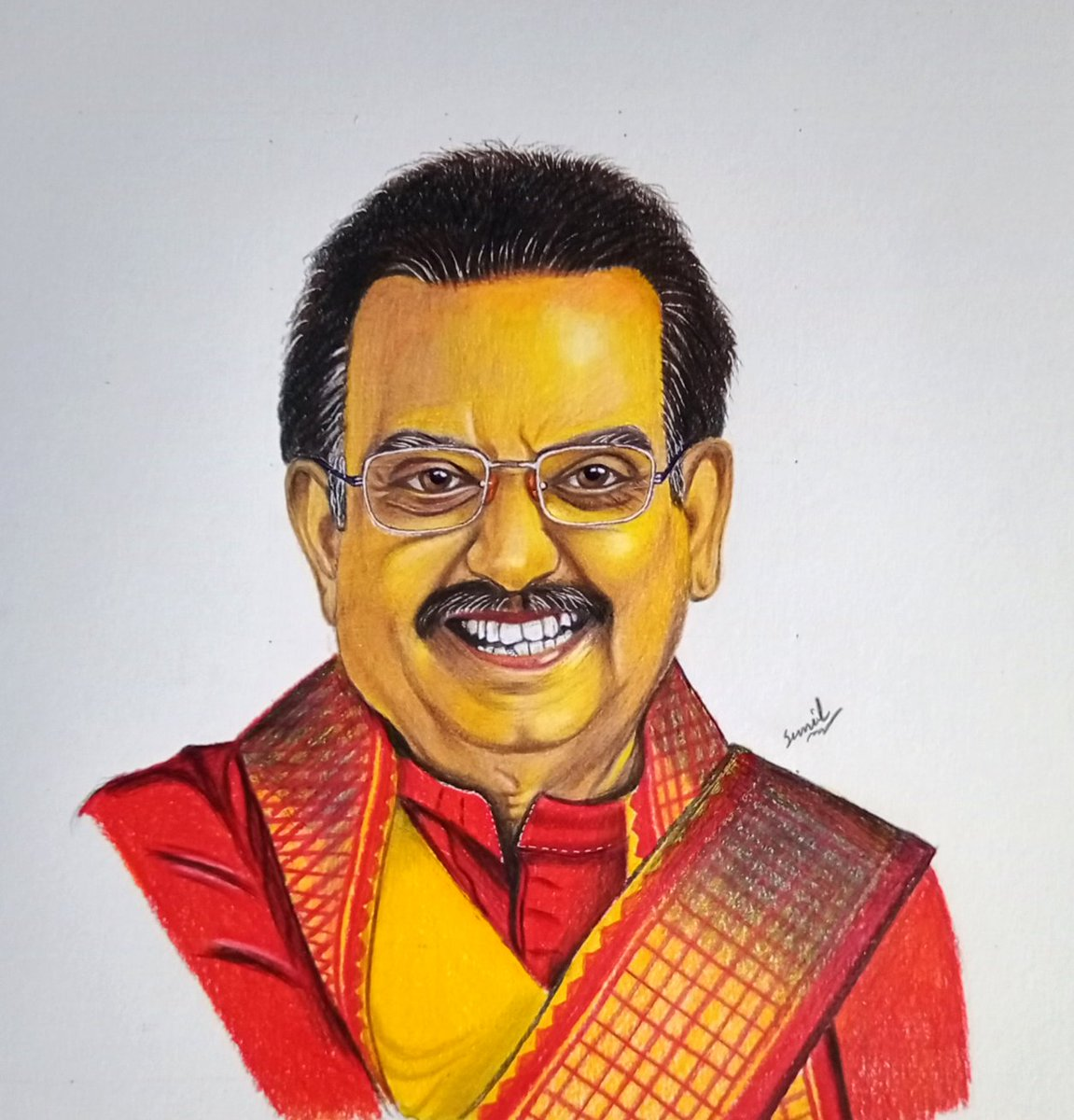 S P Balasubramanyam The legendery singer May your soul rest in peace 🙏🙏🙏 A small tribute to him Check out the drawing video https://t.co/qKBDekMpkd #sbp #SPBalasubrahmanyam https://t.co/O1qUiDQODO