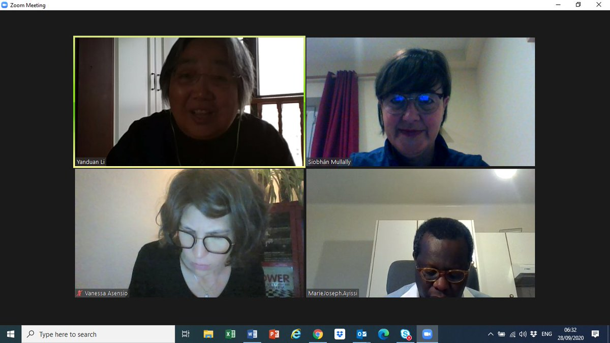 Early morning call with UN #CERD - chair, Ms Li, discussing human rights in the context of trafficking, non-discrimination, non-punishment principle + #exploitation. Pending #CERD GR on racial profiling of particular relevance to victims /survivors. @UN_SPExperts  @UNHumanRights https://t.co/Bof2bpBEOm