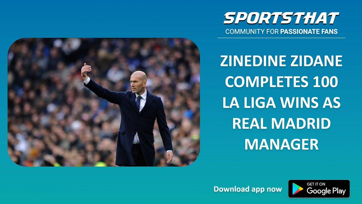 Zinedine Zidane completed 100 La Liga wins as Real Madrid's coach following the team's 3-2 triumph against Real Betis on Sunday.  #footballfc #footballlove #footballupdates #football #footballfan #zinedinezidane #zidane #realmadridfc #realmadrid #sergioramos #tonykroos #lukajovic https://t.co/EbuI676LqA