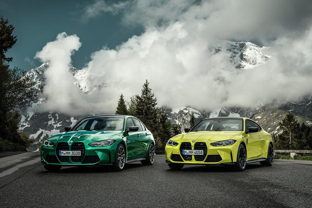 @BMWMotorsport introduced four high-performance models at the premium end of the midsize class - M3 Sedan, M3 Competition Sedan, M4 Coupé and M4 Competition Coupé. Incorporating cutting-edge racing-car technology, they are scheduled to launch in March 2021. @BMW #BMW #BMWM #TheM4 https://t.co/VogGuWAXPB