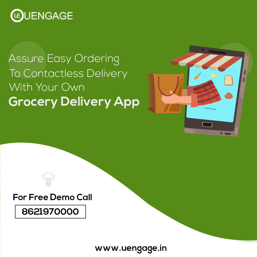 Placing orders on a single tap and receiving a quick Contactless Delivery is all you need. Transform your business today with your own Grocery  Delivery App powered by Uengage. To know more https://t.co/Gm4L3yivbU #uengage #groceryapp #MobileApp #grocery #Trending  #Trends https://t.co/832nMYWmXq