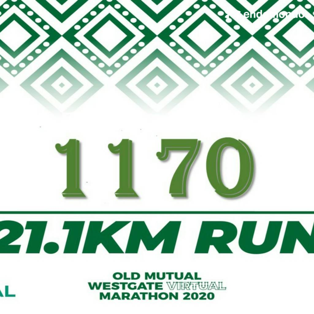 When you impact those you can't see! 2020 @OldMutualZW Westgate Virtual Half Marathon done https://t.co/hU2chA0Glr