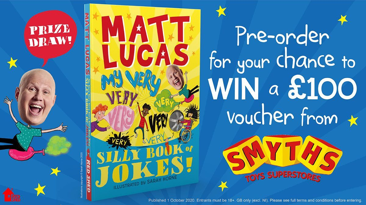 Pre-order a copy of My Very Very Very Very Very Very 𝑉𝑒𝑟𝑦  Silly Book of Jokes by @RealMattLucas for the chance to win a £100 voucher from @SmythsToysUK! To enter and check the T&Cs head to https://t.co/2eOAsItR5z https://t.co/TOxVy0gTZj