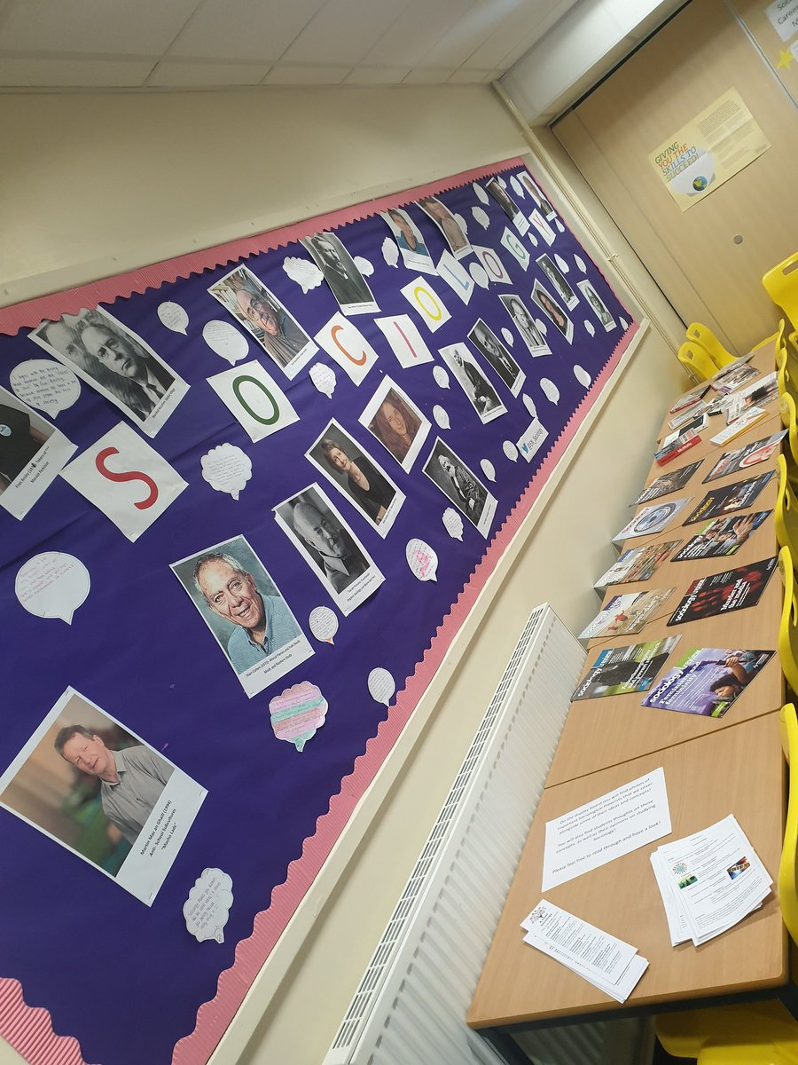 We are all ready to go for Open Morning today! Come along to P4 to find out about studying Sociology!🎉