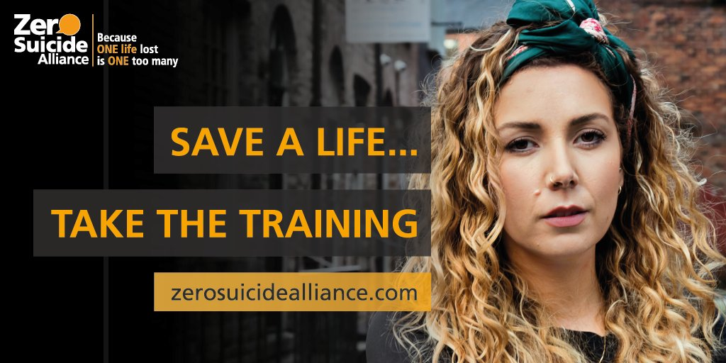 Find out how you can help people who might be struggling, and learn the skills to be able to start conversations about suicide. The training from @Zer0Suicide only takes 20 minutes, and could help save a life. https://t.co/CiaGq5nWKk https://t.co/uzAT5tbWVn