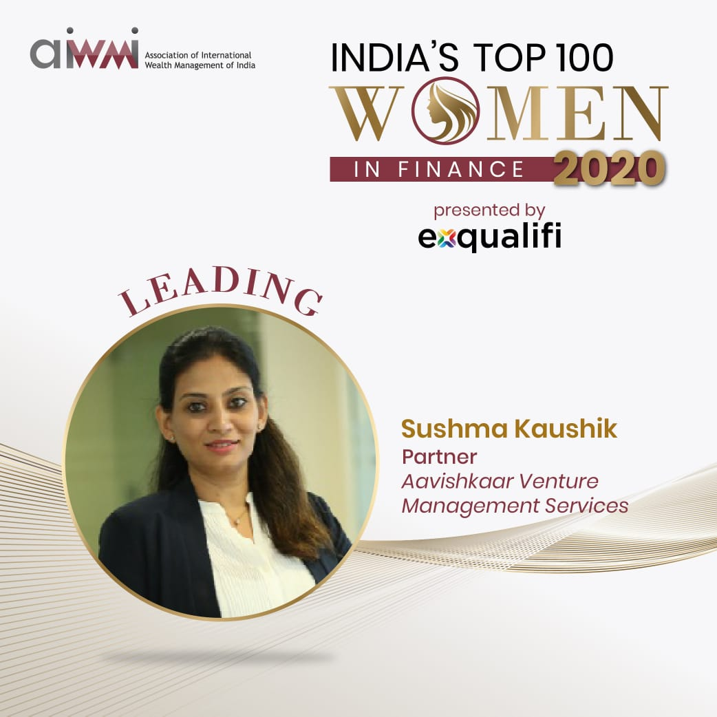 @AavishkaarGrp and @AavishkaarVC are delighted to have our partner @sushmakaushik1 being one of the top 100 women in finance in India #leadership #impact #SDGs she is a  role model for our younger generation of  leaders and for the world at large https://t.co/WALTLD6p6S
