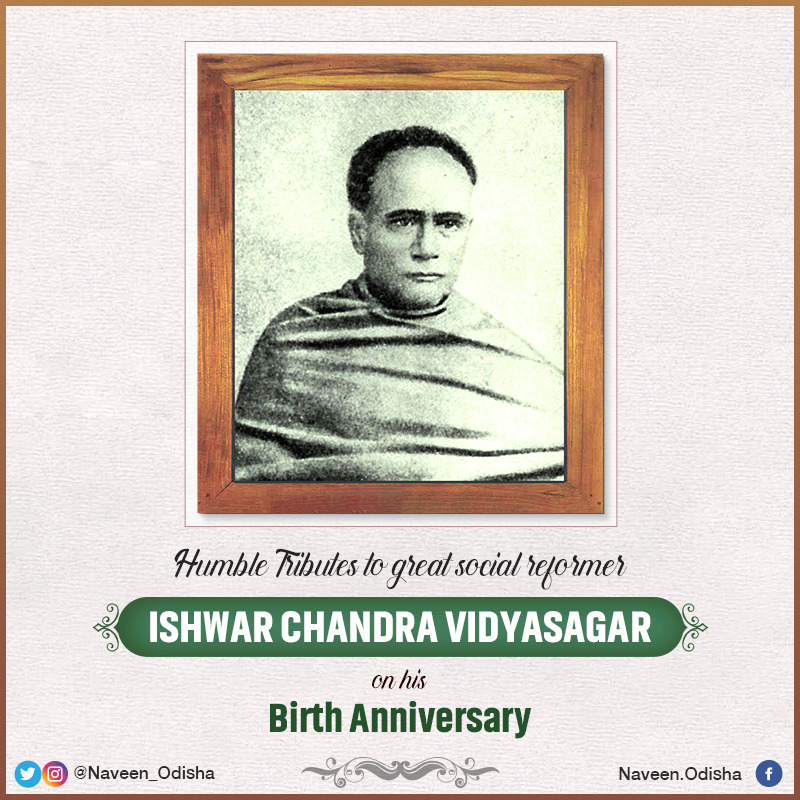 Humble tributes to great educationist and social reformer #IshwarChandraVidyasagar on his birth anniversary. A great champion of women empowerment and Sanskrit education, he relentlessly campaigned to eradicate social evils prevalent in the society. https://t.co/ow3EwOGEsN