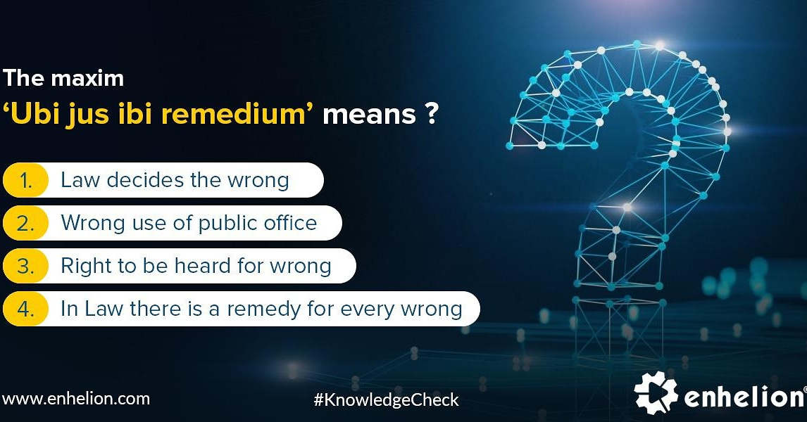 A common latin maxim, about the WRONG. Do you think, you know the RIGHT answer? #QuizTime #student #students #training #study #EdChat #EdLeaders #Educhat #GrowthMindset #mlearning #elearning #law #legal #legalstudies #courseonline #certified #quizoftheday https://t.co/jrBB15pmjQ