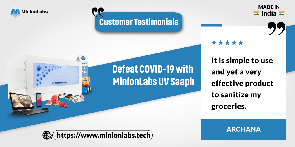 Happy Customer, Healthy Customer!  Yet another great feedback from a happy customer.  Buy Now: https://t.co/93NsKDvtnv  #covid19 #staysafe #precautions #wearmasks #minionlabsuvsaaph #technologynews #makeinindia #proudtobeindian #trending #trendingnow https://t.co/9fkf80J8ok