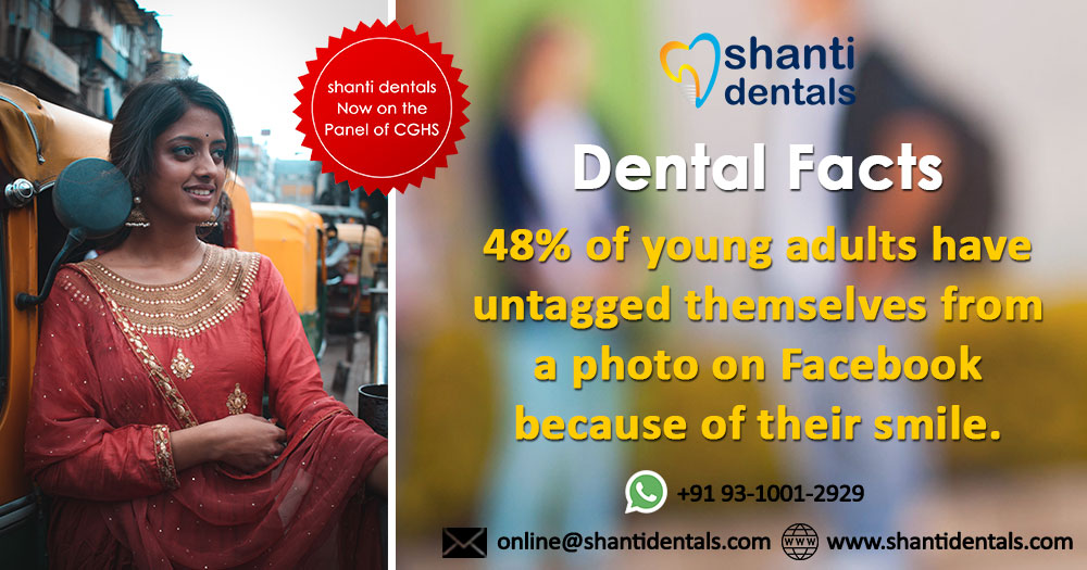 48% of #YoungAdults have untagged themselves from a photo on #Facebook because of their #Smile  Visit Us: https://t.co/jPvuiJZoeD  Call Now: +91-93-1001-2929, +91 11 4904 0909    #DentalCare  #DentalClinic #DentalHealth #SmileDesign  #LaserDentistry #ToothBrushing#OralHygiene https://t.co/1eiz9WG1Zh