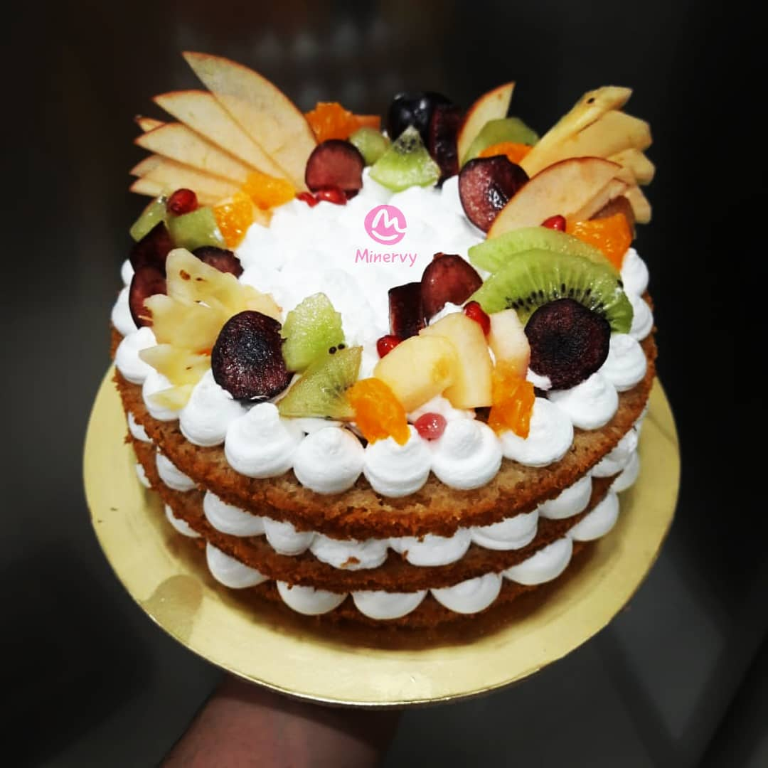 You thought fruits are boring?....... Think again!!! Its fruit inside and outside. Could a cake be more yummier and healthier than this?😁😊♥️ #minervy #cake #cakes #egglesscake #fruitcake #fruit  #fruits #healthier #homebaker #dombivlikar #dombivli #dombivlifoodie #dombivlibaker https://t.co/NMcKyDCW5l