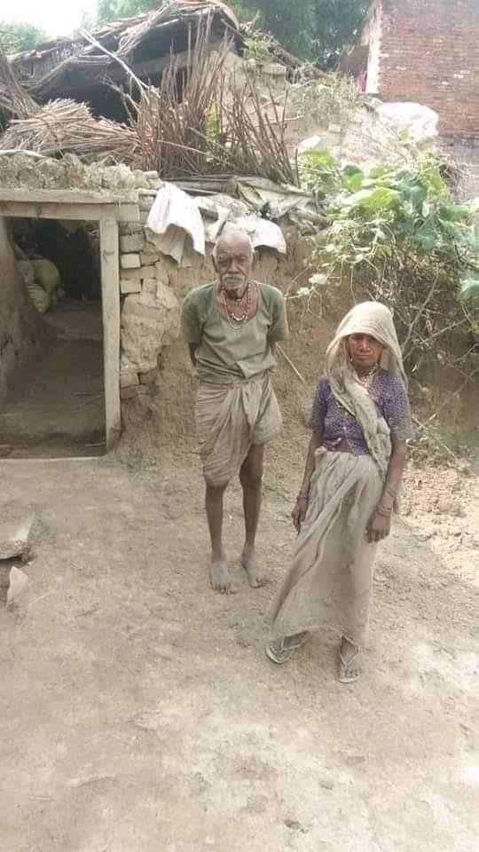 @P1Mk1mT2zNEpkbA @dkkbsr @ravikishann @BJPMLAJATA @Chandan97968275 @ShashankkBjp @MlaGorakhnath @DmMaharajganj @DubeyShyam4 @mppchaudhary @narendramodi @PawanSingh909 ये हैं गरीब #सवर्ण पंडित श्री राम खिलावन मिश्रा जी और इनकी धर्मपत्नी और ये हैं इनकी दो मंजिल की कोठी पूरे 500 वर्ग गज में,,अंधी बहरी सरकार और अम्बेडकर के सम्विधान की पूरी कृपा हैं. अगर सहायता करना हैं तो इनका करे.   😏🤔 https://t.co/h75xSawKGR