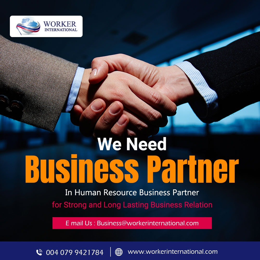 We need Business Partner in Human Resource Business for Strong and Long Lasting Business Relation!  Visit- https://t.co/P5AlbQD6P9 Contact us at 004 079 9421784 or Email at business@workerinternational.com #workerinternational #internationaljob #overseasjob #worker #job #skills https://t.co/C0XztCEDW2