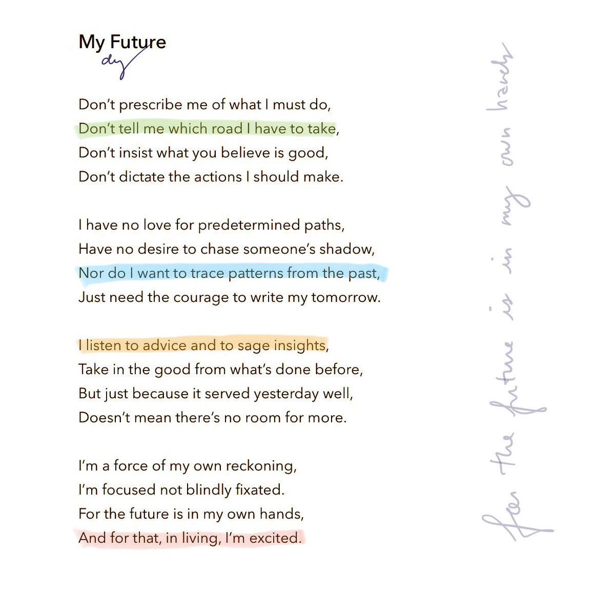 """""""Just need the courage to write my tomorrow."""" #MyFuture #Poetry https://t.co/21zv6FAN7j"""