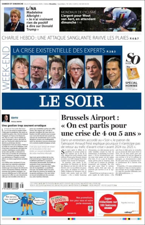 LE SOIR  https://t.co/6iY0YYIwol #r2p #LeSoir #Belgique #Bruxelles #BEL20 #SophieWilmès #UE #Europe #Macron #Coronavirus #Covid19 #Macron #Virus #Parlement #Obama #Trump #Biden #PhilippeDeBelgique #Liban #Beyrouth #Beirut #Liban #Tests #Epstein #PS #UrsulaVonDerLeyen #ING https://t.co/XvxNJHHHen