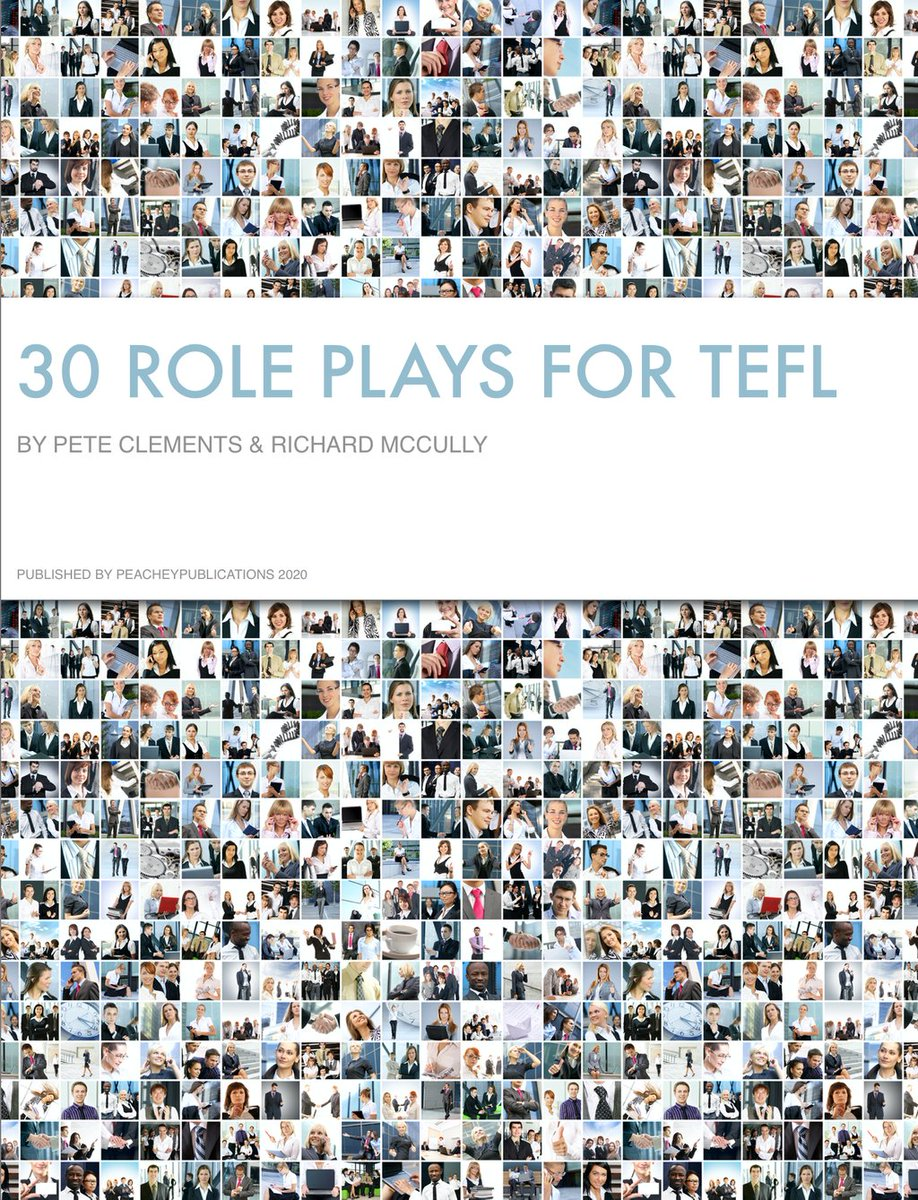 30 Role Plays for TEFL - Second Edition + Student Workbook App https://t.co/b23YUuWA8g #esl #efl #elt #tesol #eal #ell #ela #esl #tefl #lessonplan #remotelearning #onlineEnglish #EnglishOnline #remoteteaching #distancelearning https://t.co/3fJezNydpp