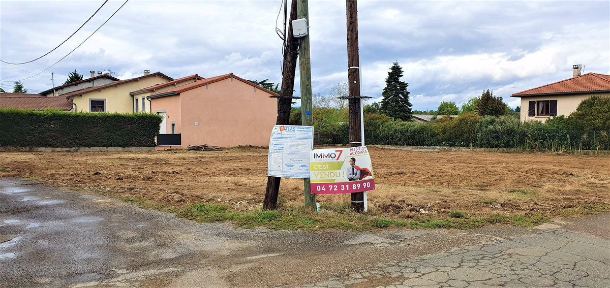 Terrain vendu par IMMO7 ! Bravo à Fabrice pour cette belle vente 👏🏻 #vente #terrain #orlienas https://t.co/tHooHFmVrL