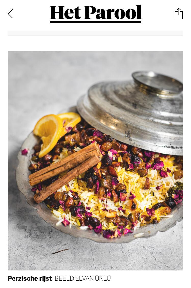Het werk, boek NOSH van Esther en Elvan is nu ook opgepikt door  @parool   Zie ook haar site met haar fotografie oplossingen https://t.co/VoQW3dbKIz  EN het boek : https://t.co/bF6P5yR7i0  #vegetarian #persian #rice #foodphotography #peoplephotography #photography &  #womenpower https://t.co/FQSF4IR2V1