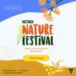 A FREE VIRTUAL NATURE FESTIVAL Connect with nature, it's good for your health AND wellbeing. Nature-based virtual events from around Victoria for you to enjoy from Mon 28 Sept 2020.  Drop in - https://t.co/vOsQYFdvBc #victorianaturefestival #nature #connectwithnature @delwp