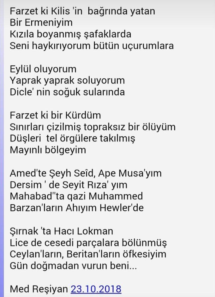#MedReşiyan #şair #şiir #Helbest #pirtukakurdi https://t.co/WvId2jAhbl