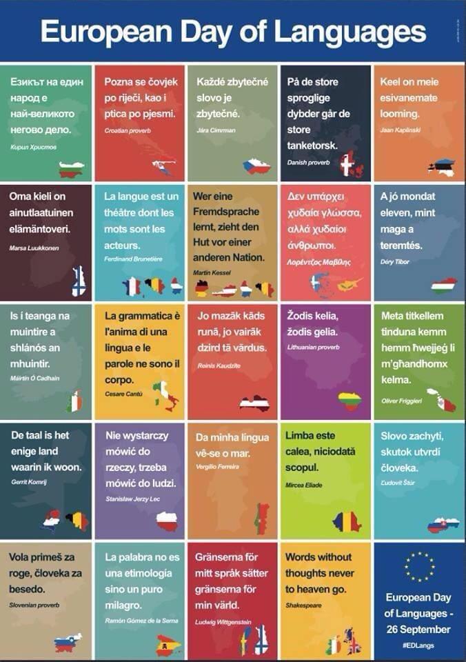 Happy European Day of Languages! #EDLangs