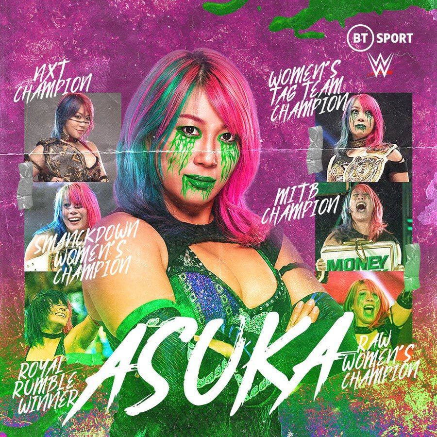 RT @btsportwwe: Happy Birthday to The Empress of Tomorrow, @WWEAsuka! 🥳  Just look at all those achievements 🤩 https://t.co/SAsH4oKUA5