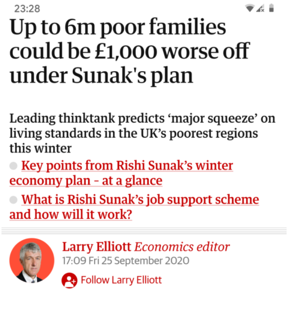 Sunak proving to Tory donors he has what it takes to be Tory leader - ie be a total bastard. https://t.co/ktfcU5gc2p