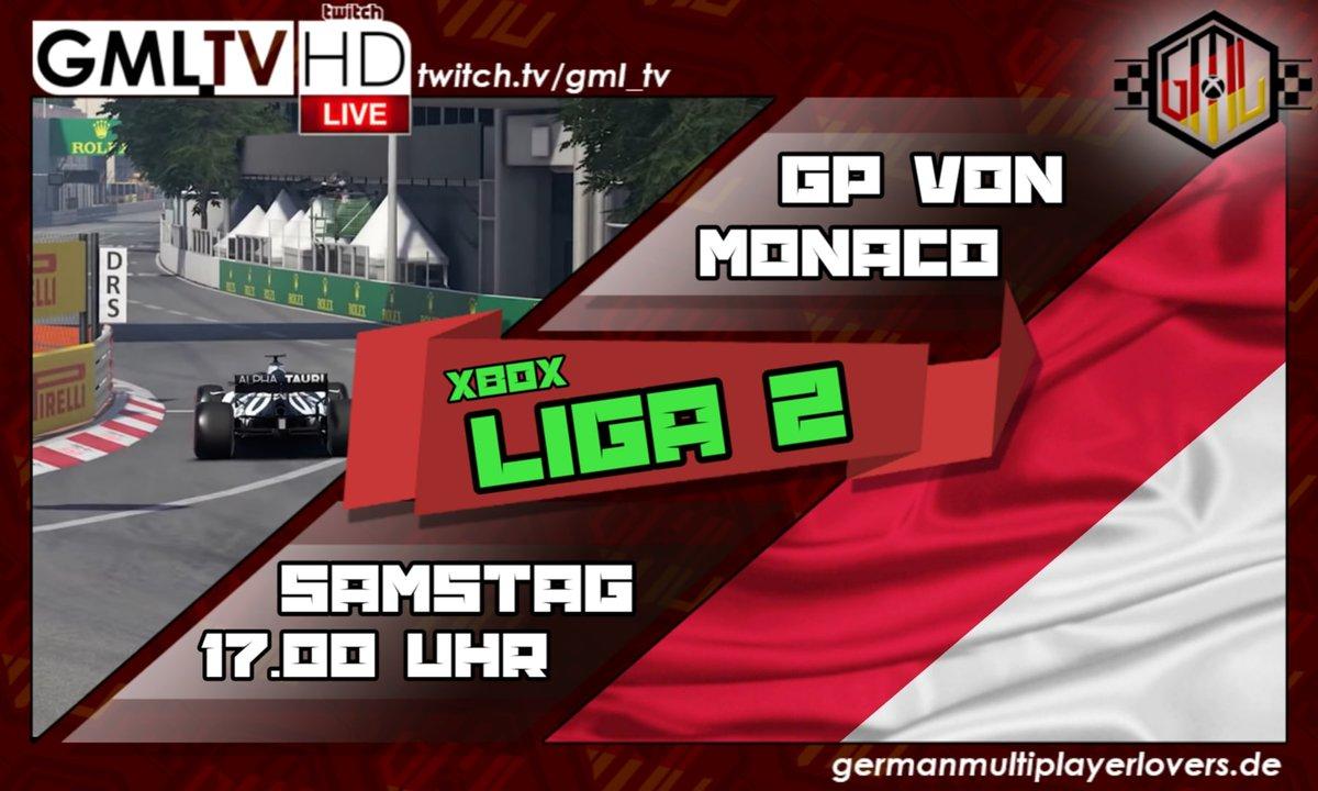 🔴 LIGA 2 GP von Monaco 🔴 https://t.co/PKmNIWqfXS #MonacoGP Live auf Twitch - GML_TV 🎥 ⬇️⬇️⬇️ https://t.co/KWHMV3qbf0  #esports #gaming #xbox #formula1 #twitch #race #videogames #F1 @vrsimracer @SurvivalPiraten @RexRTs @EsportsTweeter @TwitchSIE @GamingRTweeters @eSportsFund https://t.co/kBuo0yNW4V