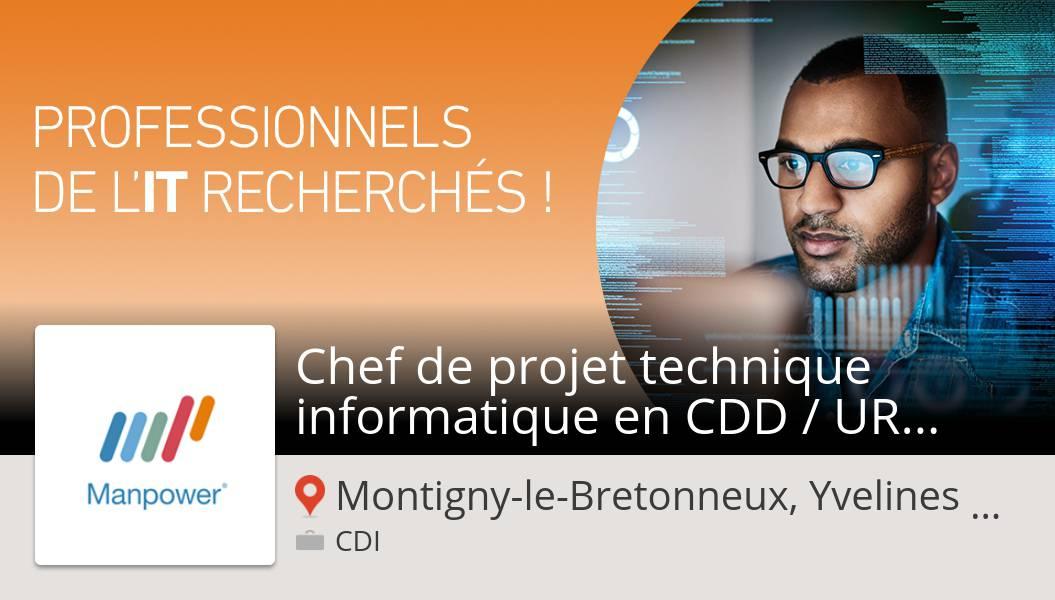 Êtes-vous un(e) #Chef de projet #technique informatique en CDD / URGENT (H/F) #job Montigny-le-Bretonneux, Yvelines , Îl...? #ManpowerFrance n'attend que vous! #job https://t.co/orsPdM3d5O https://t.co/l9teUrgzg4