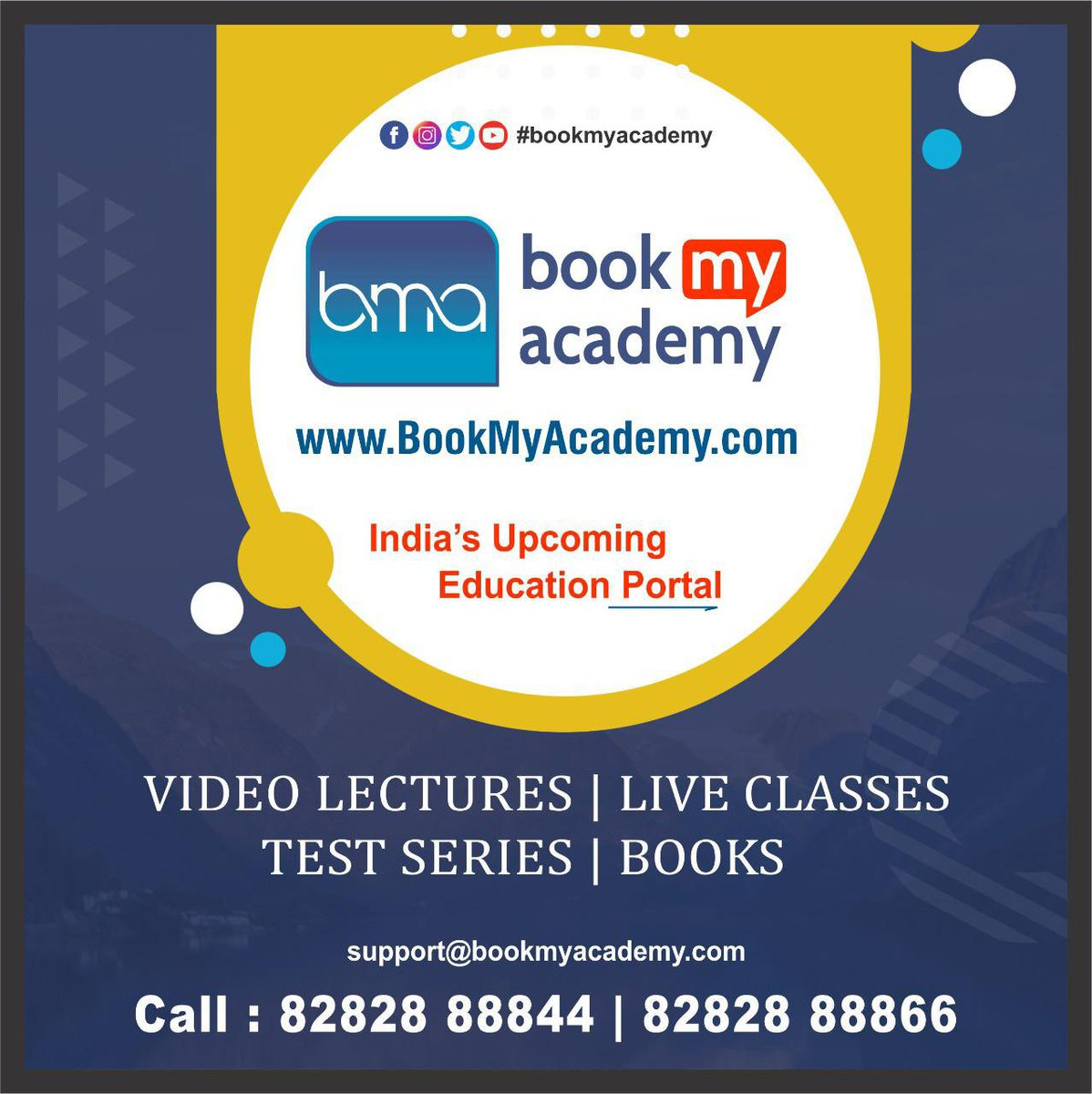 BookMyAcademy offers a vast #library of powerful, up-to-date and engaging #content that includes #video #lectures for online #coaching and offline #classes for face to face learning for multiple #courses and #subjects, #testseries and #MCQs. #BookMyAcademy https://t.co/TSvf6a5vOZ