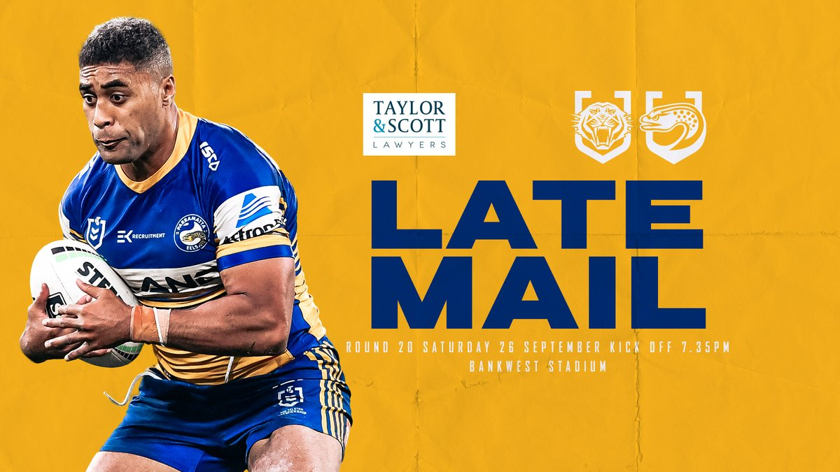 Parramatta Eels On Twitter Late Mail Plenty Of Changes To The Blue Gold Line Up With Michael Jennings Dropping Out Seeing A New Look Backline See The Updated Team List