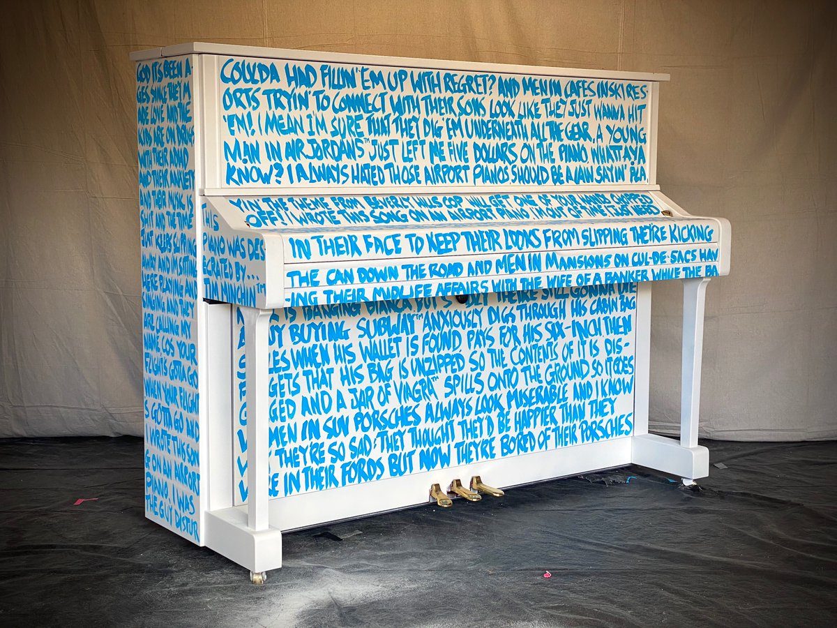 . @yamahamusicau and I are hoping to get $50k for charity for this folly. I may well be dreamin' (and we won't let it go til Dec) but if you're a pianophilic philanthropist with unconventional taste and are interested, give Michael at SmartArtists management a call. #AirportPiano