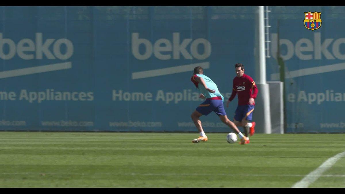 Dernier entraînement de la semaine en cours à la Ciutat Esportiva. Voici le résumé de la séance d'hier 💪 J-1 avant #BarçaVillarreal https://t.co/pPywKeeqbc