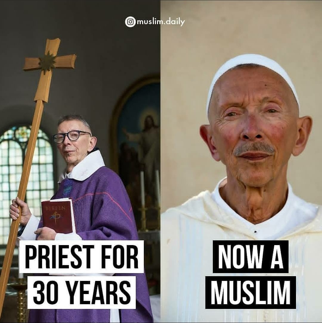 Priest of 30 years accepts ISLAM. Ahmed Skjetne, 75, has worked as a priest in the Church of Sweden for 30 years, in almost 15 of these was active in Skillingaryd's pastorate, but three years ago he decided to convert to Islam and then changed the name Leif to Ahmed. https://t.co/GtHaBv0QpN