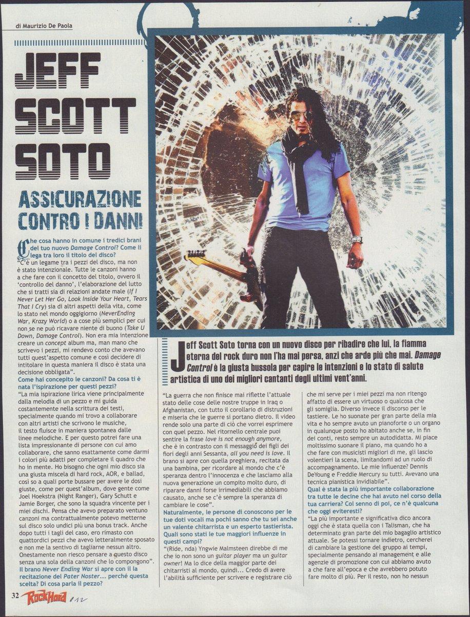 Musica Rock @jeffscottsoto @JillJanus @jimpeterik @JoeBonamassaIta #ilcartaceo #musica #ilcartaceo https://t.co/iYUbPQSEkZ