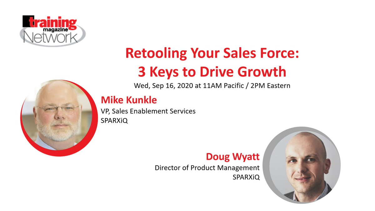Retooling Your #Sales Force: 3 Keys to Drive Growth and other recorded webinars @Mike_Kunkle, https://t.co/NC39TIpOz4 #training #learning #eLearning #TrainingAndDevelopment #Salesforce #SalesImprovement https://t.co/mpWZuFJUvJ