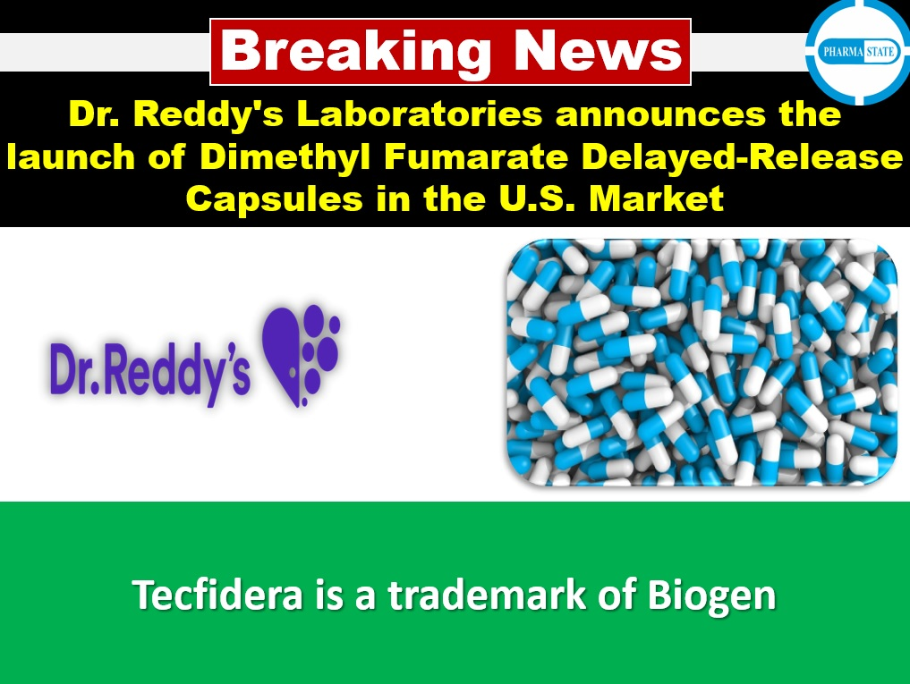 Dr. Reddy's Laboratories announces the launch of Dimethyl Fumarate Delayed-Release Capsules in the U.S. Market Follow PharmaState | Global Pharma Network Page & get #Pharma Exclusive Updates! #BreakingNewsPharma #pharmanews #breakingnews #pharmaceuticals #pharmaceuticalindustry https://t.co/MlWwN9h3H8