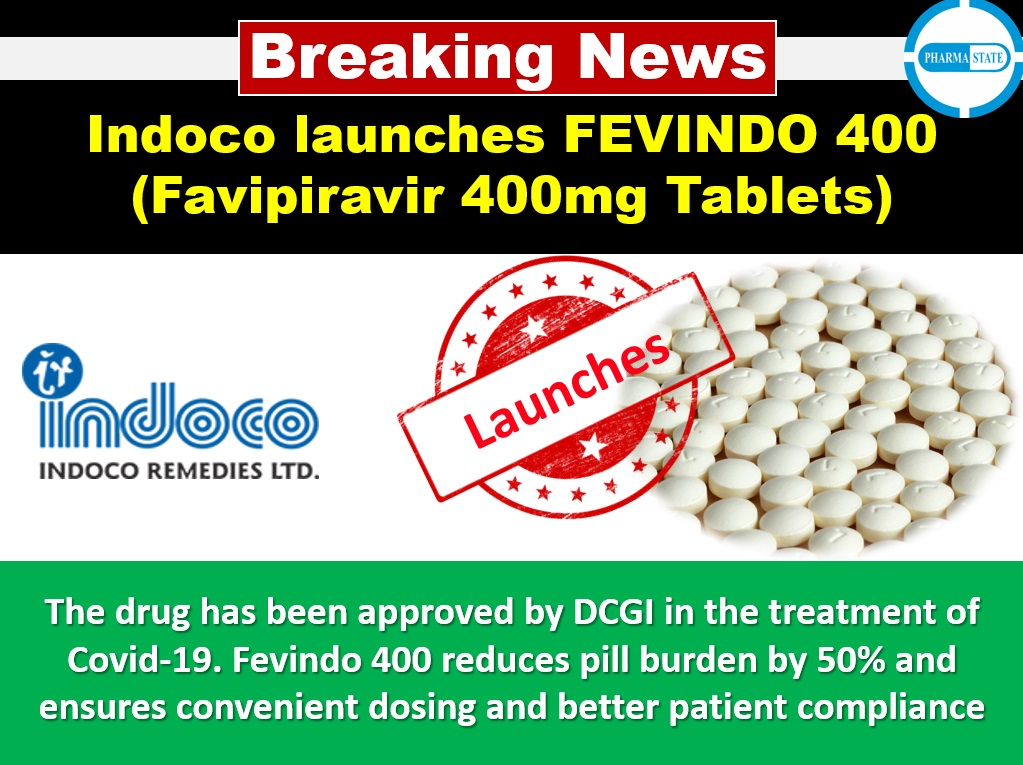 Indoco launches FEVINDO 400 (Favipiravir 400mg Tablets) Follow PharmaState | Global Pharma Network Page & get #Pharma Exclusive Updates!  #BreakingNewsPharma #pharmanews #breakingnews #pharmaceuticals #pharmaceuticalindustry #pharmaceuticalmanufacturing #pharmaindustry https://t.co/9uFQFYi6bS
