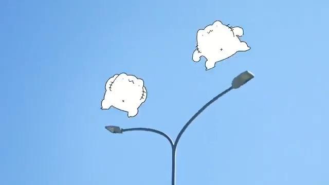 街灯ジャンプ