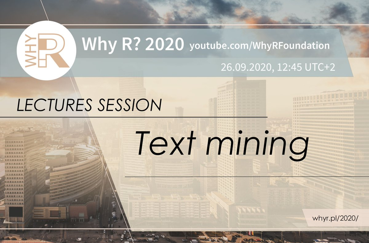 The #text #mining #lectures started under https://t.co/S3yoL6bNO4 https://t.co/9gEtSOYUUw