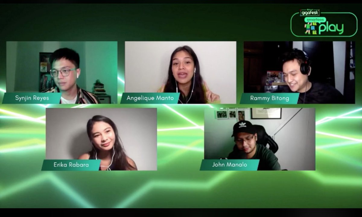 "Need virtual party suggestions? @AngeliqueManto, @rammybitong, @erikarabara, @manalojohn, and @synjinreyes share game ideas at ""Smartees Play,""  a pre-show segment of Smart GigaFest Virtual Concert.  https://t.co/YcBeSzN3jM. #BrandRap #SmartGigaFest #SmartGigaLife https://t.co/PBAgTS0shB"